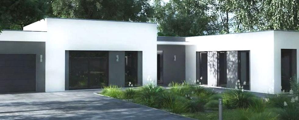 maison contemporaine plain pied vivre sans tage. Black Bedroom Furniture Sets. Home Design Ideas