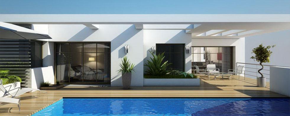 Maison contemporaine plain pied vivre sans tage - Modele d architecture de maison ...